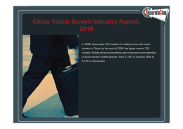 China To ch Screen Ind str Report 2010