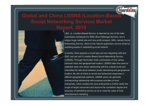 Global and China LBSNS (Location-Based Global and China LBSNS (Location Based