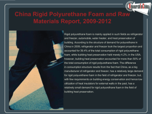 China Rigid Polyurethane Foam and Raw Materials Report, 2009-2012