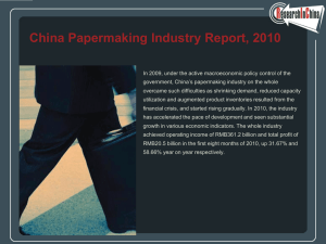 China Papermaking Industry Report, 2010