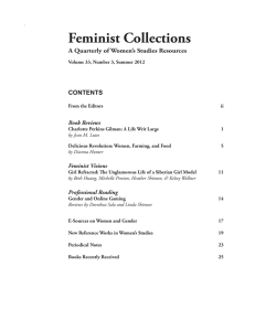 Feminist Collections A Quarterly of Women's Studies Resources CONTENTS Book Reviews