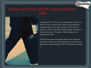 Global and China OLED Industry Report, 2009
