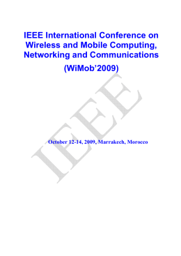 IEEE International Conference on Wireless and Mobile Computing, Networking and Communications (WiMob'2009)