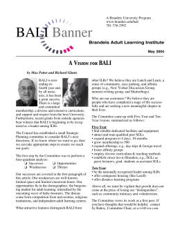 BALI Banner A V Brandeis Adult Learning Institute