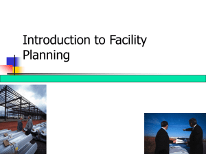 Introduction to Facility Planning 1