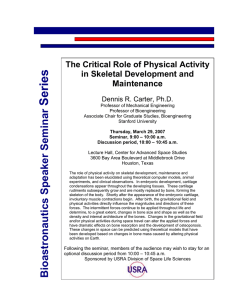 Series  The Critical Role of Physical Activity in Skeletal Development and