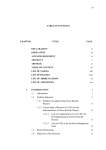 TABLE OF CONTENTS CHAPTER TITLE