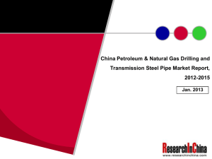 China Petroleum & Natural Gas Drilling and 2012-2015 Jan. 2013