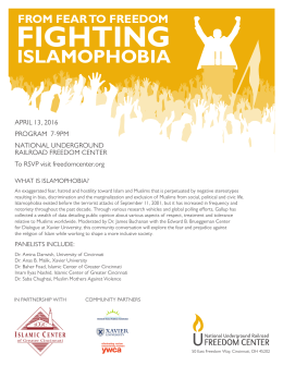 FIGHTING ISLAMOPHOBIA FROM FEAR TO FREEDOM
