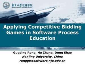 Applying Competitive Bidding Games in Software Process Education
