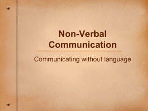 Non-Verbal Communication Communicating without language