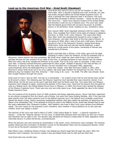 Lead up to the American Civil War - Dred Scott...