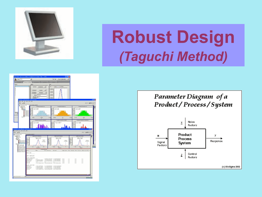Robust design taguchi method pooptronica