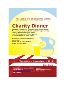 Charity Dinner Phi Sigma Rho Engineering Sorority