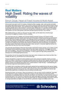 High Swell: Riding the waves of volatility Real Matters