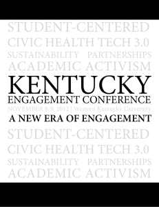 KENTUCKY STUDENT-CENTERED ACADEMIC ACTIVISM CIVIC HEALTH