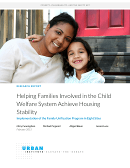 Helping Families Involved in the Child Welfare System Achieve Housing Stability