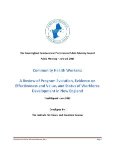 Community Health Workers: A Review of Program Evolution, Evidence on