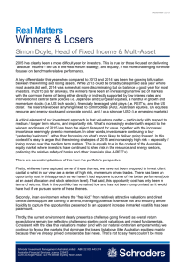 Winners & Losers Real Matters