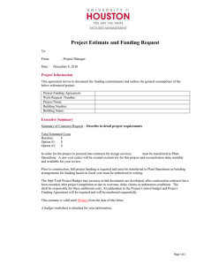 Project Estimate and Funding Request  Project Information