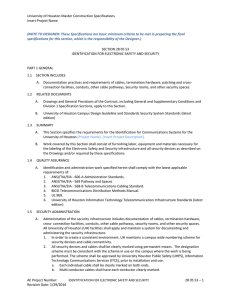 University of Houston Master Construction Specifications Insert Project Name