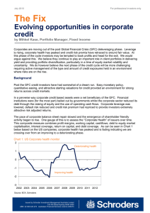 The Fix  Evolving opportunities in corporate credit
