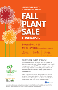 FALL PLANT SALE FUNDRAISER