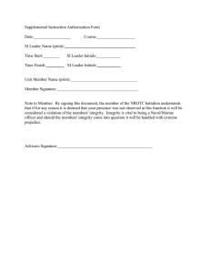 Supplemental Instruction Authorization Form