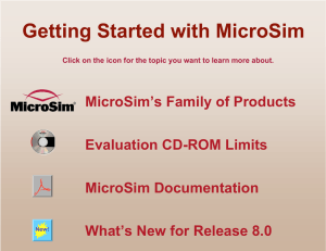 Getting Started with MicroSim