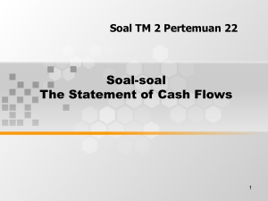 Soal-soal The Statement of Cash Flows Soal TM 2 Pertemuan 22 1