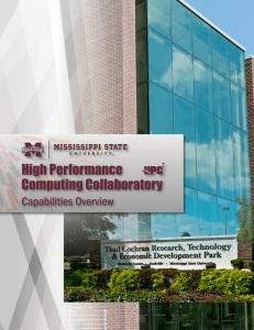 High Performance Computing Collaboratory Capabilities Overview