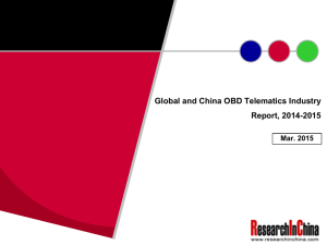 Global and China OBD Telematics Industry Report, 2014-2015 Mar. 2015
