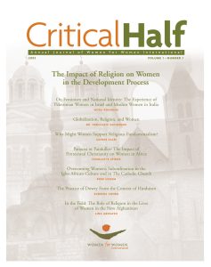 Critical Half The Impact of Religion on Women in the Development Process