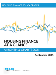 HOUSING FINANCE AT A GLANCE A MONTHLY CHARTBOOK September 2015