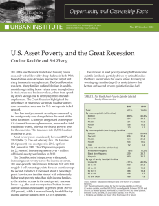 U.S. Asset Poverty and the Great Recession Opportunity and Ownership Facts