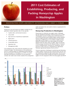2011 Cost Estimates of Establishing, Producing, and Packing Honeycrisp Apples in Washington