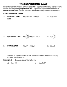 The LOGARITHMIC LAWS