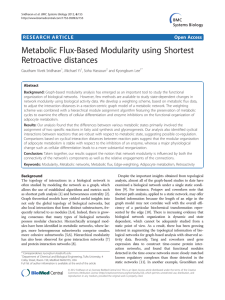 Metabolic Flux-Based Modularity using Shortest Retroactive distances Open Access