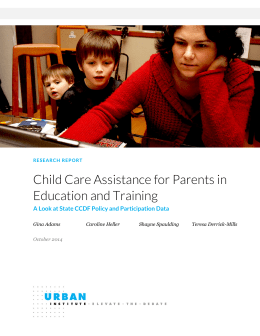 Child Care Assistance for Parents in Education and Training