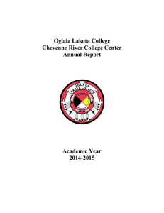 Oglala Lakota College Cheyenne River College Center Annual Report