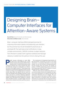 Designing Brain− Computer Interfaces for Attention-Aware Systems