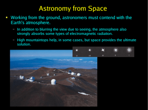 Astronomy from Space Earth's atmosphere.