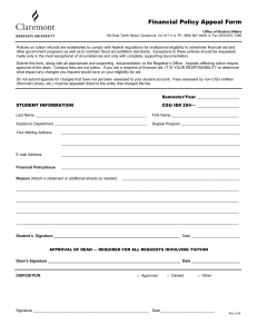 Financial Policy Appeal Form