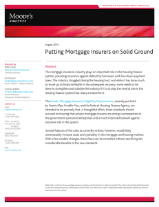 Putting Mortgage Insurers on Solid Ground ANALYSIS ��