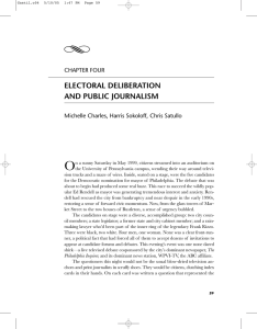 Y O ELECTORAL DELIBERATION AND PUBLIC JOURNALISM