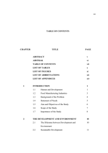 vii TABLE OF CONTENTS CHAPTER TITLE