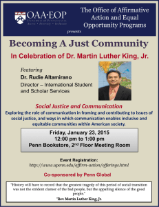 Becoming A Just Community The Office of Affirmative Action and Equal