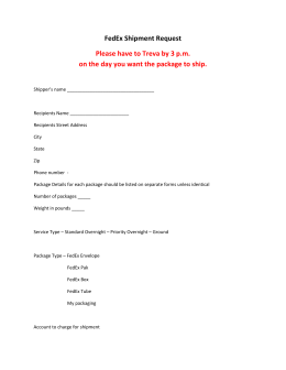 FedEx Freight Claim Form Instructions and Frequently Asked