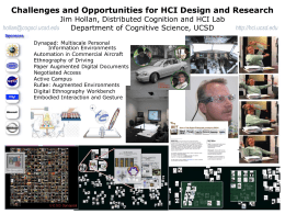 Challenges and Opportunities for HCI Design and Research