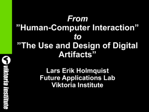 "From to ""Human-Computer Interaction"" ""The Use and Design of Digital"